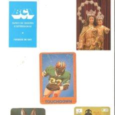 Coleccionismo Calendarios: CALENDARIOS DE BOLSILLOS DIFERENTES , 5 UNIDADES. Lote 34592506