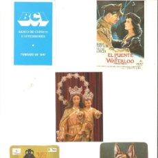 Coleccionismo Calendarios: CALENDARIOS DE BOLSILLOS DIFERENTES , 5 UNIDADES. Lote 34592560