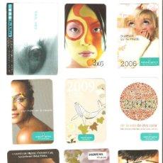 Coleccionismo Calendarios: CALENDARIOS DE BOLSILLOS DIFERENTES , 9 UNIDADES. Lote 34592698