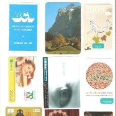 Coleccionismo Calendarios: CALENDARIOS DE BOLSILLOS DIFERENTES , 9 UNIDADES. Lote 34592908