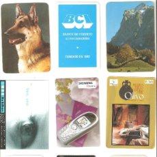 Coleccionismo Calendarios: CALENDARIOS DE BOLSILLOS DIFERENTES , 9 UNIDADES. Lote 34593022