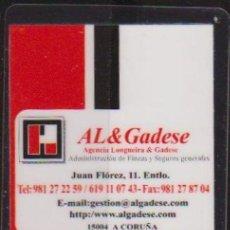 Coleccionismo Calendarios: CALENDARIO BOLSILLO AL&GADESE 2012 PLASTIFICADO POCKET CALENDAR KALENDER CALENDRIER KALENDAR. Lote 34665046