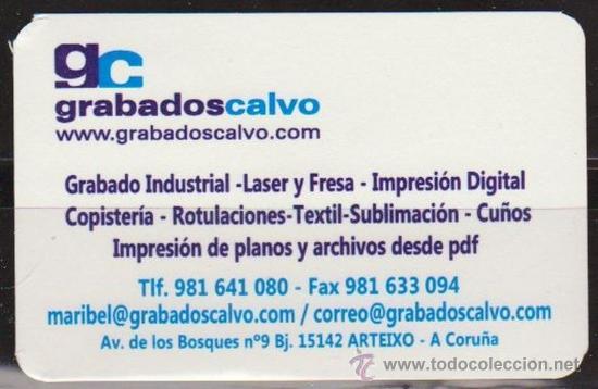 CALENDARIO BOLSILLO GRABADOS CALVO 2011 POCKET CALENDAR KALENDER CALENDRIER KALENDAR (Coleccionismo - Calendarios)