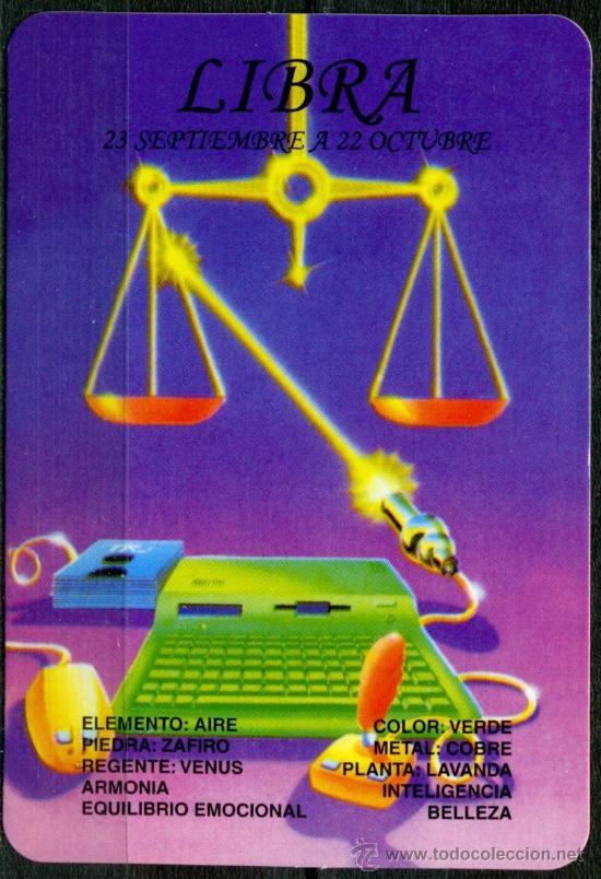 CALENDARIOS DE BOLSILLO - HOROSCOPOS LIBRA 2009 (Coleccionismo - Calendarios)
