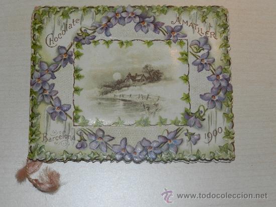 Calendario 1900.Calendario 1900 Chocolate Amatller Barcelona