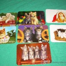 Coleccionismo Calendarios: LOTE DE CALENDARIOS 2011 EXTRANJEROS ANIMALES. Lote 35066704
