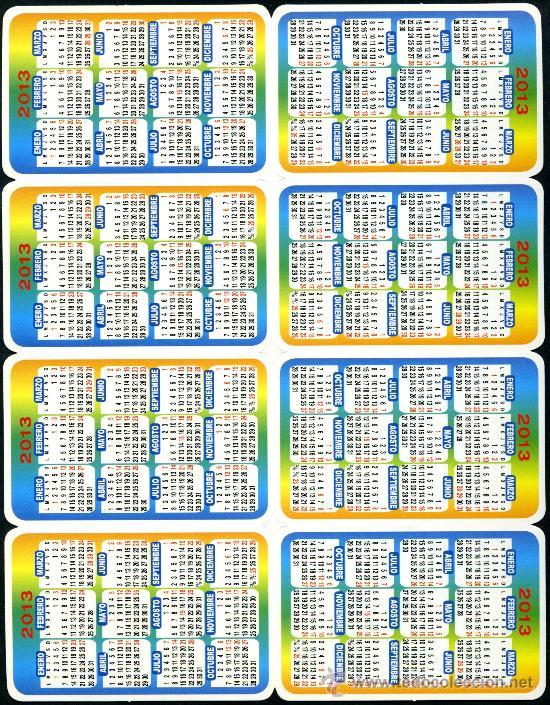 Coleccionismo Calendarios: 128 Calendarios Bolsillo – TT 2013 - Foto 12 - 112139024