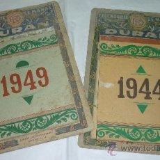 Coleccionismo Calendarios: LOTE DE 2 CALENDARIOS (DE PARED) SEMANAL DURAN. AÑOS 1944 Y 1949. Lote 35518554