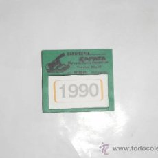 Coleccionismo Calendarios: CALENDARIO DE BOLSILLO. CARNICERÍA ZAPATA (CARTAGENA), 1990. EN MARCO DE PLÁSTICO. Lote 35868040