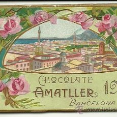 Coleccionismo Calendarios: (CA-1117B)CALENDARIO DE BOLSILLO CHOCOLATES AMATLLER ALMANAQUE AÑO 1911. Lote 35690539