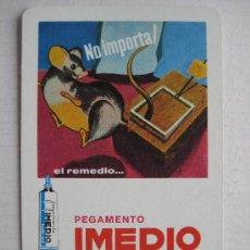 Coleccionismo Calendarios: CALENDARIO FOURNIER, PEGAMENTO IMEDIO, DE 1972. Lote 41075064