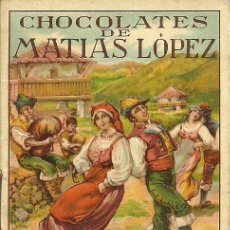 Coleccionismo Calendarios: (CA-1191)CALENDARIO DE BOLSILLO CHOCOLATES DE MATIAS LOPEZ AÑO 1927. Lote 36288231