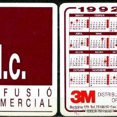 Coleccionismo Calendarios: CALENDARIOS BOLSILLO - DIFUSIÓN COMERCIAL 1992. Lote 35858552