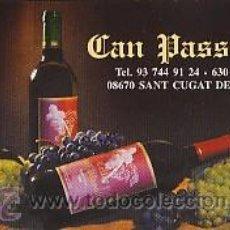 Coleccionismo Calendarios: CALENDARIO VINO - CAN PASSOLS - SANT CUGAT DEL RACO - BARCELONA - AÑO 2004. Lote 35884447