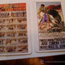 Coleccionismo Calendarios: 2 DE BOLSILLO REPRODUCION CARTEL DE POZOBLANCO MUERTE DE PAQUIRRI Y OTRO CON ESCENAS TAURINAS . Lote 35909566