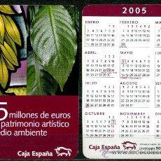 Coleccionismo Calendarios: CALENDARIOS BOLSILLO - CAJA ESPAÑA 2005. Lote 110114559