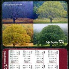 Coleccionismo Calendarios: CALENDARIOS BOLSILLO - CAJA ESPAÑA 2008. Lote 35940603