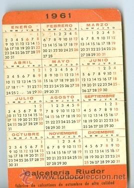 Calendario Del 1961.Calendario 1961