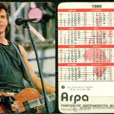Coleccionismo Calendarios: CALENDARIOS BOLSILLO PORTUGUES - LIVE AID 1986. Lote 36051200