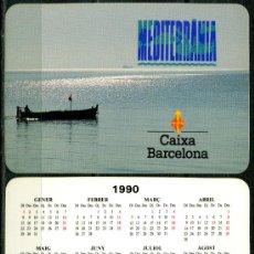 Coleccionismo Calendarios: CALENDARIOS BOLSILLO - CAIXA D'ESTALVIS DE CATALUNYA 1990. Lote 112069910