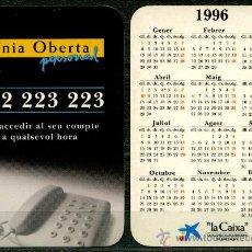 Coleccionismo Calendarios: CALENDARIOS DE BOLSILLO - LA CAIXA 1996 CAT.. Lote 39266879