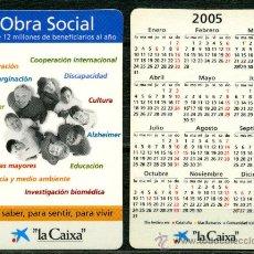 Coleccionismo Calendarios: CALENDARIOS DE BOLSILLO - LA CAIXA 2005 CAST.. Lote 112069686