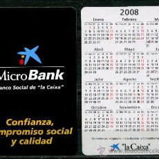 Coleccionismo Calendarios: CALENDARIOS DE BOLSILLO - LA CAIXA 2008 CAST.. Lote 112069728