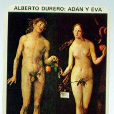 Coleccionismo Calendarios: CALENDARIO BOLSILLO 1977 ADÁN Y EVA DURERO PUBLICIDAD ACADEMIA IDIOMAS NON PLUS ULTRA MADRID. Lote 36126588