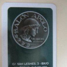 Coleccionismo Calendarios: CALENDARIO SALÓN PELUQUERÍA APOLO 2012. Lote 124459968