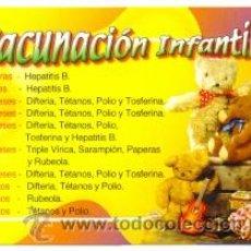 Coleccionismo Calendarios: 11-07L293. CALENDARIO. VACUNACION INFANTIL. Lote 36264602