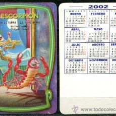 Coleccionismo Calendarios: CALENDARIOS DE BOLSILLO - HOROSCOPOS ESCORPIO 2002. Lote 102100612