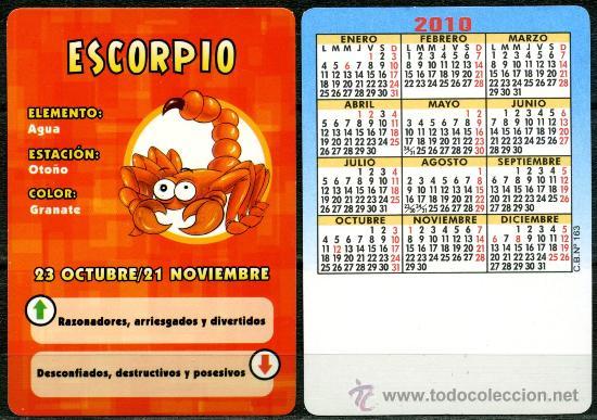 CALENDARIOS DE BOLSILLO - HOROSCOPOS ESCORPIO 2010 (Coleccionismo - Calendarios)