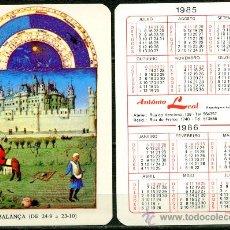 Coleccionismo Calendarios - Calendarios de Bolsillo Portugues - HOROSCOPOS 1985 / 1986 - 36315578