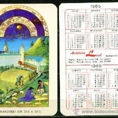 Coleccionismo Calendarios - Calendarios de Bolsillo Portugues - HOROSCOPOS 1985 / 1986 - 36315635
