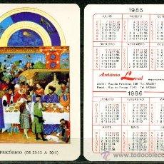 Coleccionismo Calendarios - Calendarios de Bolsillo Portugues - HOROSCOPOS 1985 / 1986 - 36315714