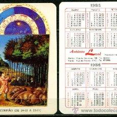 Coleccionismo Calendarios - Calendarios de Bolsillo Portugues - HOROSCOPOS 1985 / 1986 - 36315795