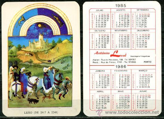 CALENDARIOS DE BOLSILLO PORTUGUES - HOROSCOPOS 1985 / 1986 (Coleccionismo - Calendarios)