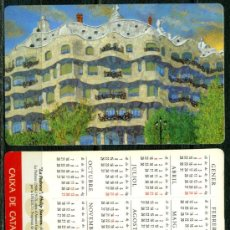 Coleccionismo Calendarios: CALENDARIOS BOLSILLO - CAIXA D'ESTALVIS DE CATALUNYA 1996. Lote 166808486