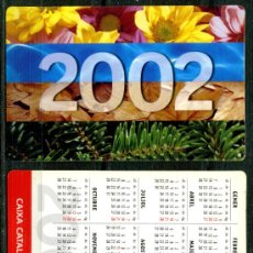 Coleccionismo Calendarios: CALENDARIOS BOLSILLO - CAIXA D'ESTALVIS DE CATALUNYA 2002. Lote 58339678
