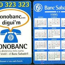 Coleccionismo Calendarios: CALENDARIOS BOLSILLO - BANC DE SABADELL 1995 CAT.. Lote 112069808