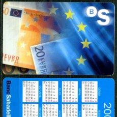 Coleccionismo Calendarios: CALENDARIOS BOLSILLO - BANC DE SABADELL 2000 CAT.. Lote 112069796