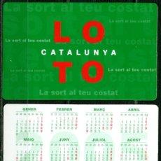 Coleccionismo Calendarios: CALENDARIOS BOLSILLO - LOTO CATALUNYA 2005. Lote 40674687