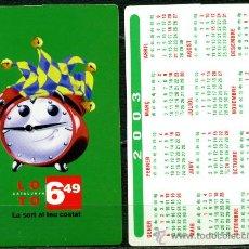 Coleccionismo Calendarios: CALENDARIOS BOLSILLO - LOTO CATALUNYA 2003. Lote 40674699