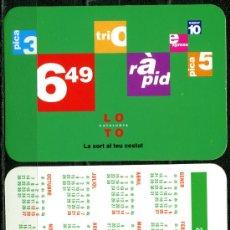 Coleccionismo Calendarios: CALENDARIOS BOLSILLO - LOTO CATALUNYA 2002. Lote 40674695