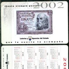 Coleccionismo Calendarios: CALENDARIOS BOLSILLO - LOTERIA NACIONAL 2002. Lote 51251912