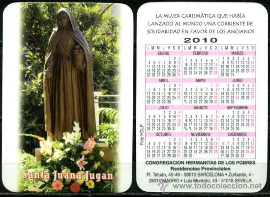 CALENDARIOS BOLSILLO - HERMANITAS DE LOS POBRES 2010 (Coleccionismo - Calendarios)