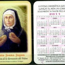 Coleccionismo Calendarios: CALENDARIOS BOLSILLO - GERMANETES DELS POBRES 2011. Lote 36566972