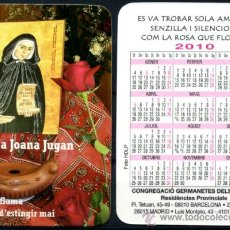 Coleccionismo Calendarios: CALENDARIOS BOLSILLO - GERMANETES DELS POBRES 2010. Lote 36566978