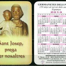 Coleccionismo Calendarios: CALENDARIOS BOLSILLO - GERMANETES DELS POBRES 2013. Lote 36567001
