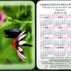 Coleccionismo Calendarios: CALENDARIOS BOLSILLO - GERMANETES DELS POBRES 2013. Lote 94961564
